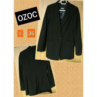 オゾック(OZOC)のロング テーラードジャケット ブラック OZOC オゾック(テーラードジャケット)