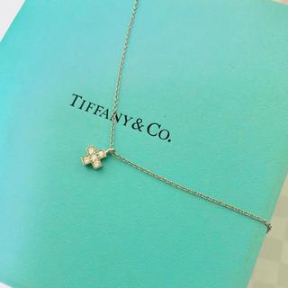 ティファニー(Tiffany & Co.)のティファニー クルーシフォーム クロス ネックレス プラチナ(ネックレス)
