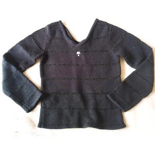 クレージュ(Courreges)のcourregesクレージュ 黒 セーター(ニット/セーター)