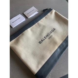 バレンシアガ(Balenciaga)のバレンシアガ ネイビークリップ キャンバス クラッチバッグ(セカンドバッグ/クラッチバッグ)