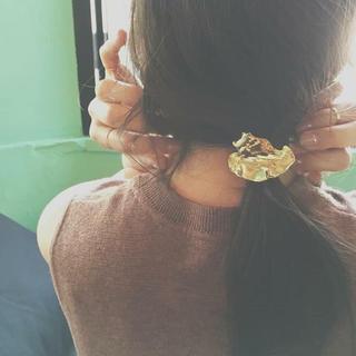 トゥデイフル(TODAYFUL)のluijewelry leaf hair tie ヘアゴム ルイジュエリー(ヘアゴム/シュシュ)
