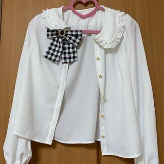 マーズ(MA*RS)のチェックリボンシャツ(シャツ/ブラウス(長袖/七分))
