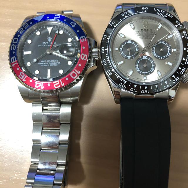 時計2本セット GMT デイトナ風 修理用のパーツ取りにもの通販