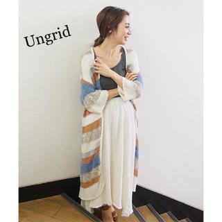 Ungrid - Ungrid ミックスヤーンボーダーニットカーデ