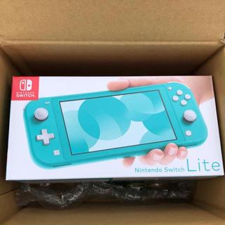 ニンテンドースイッチ(Nintendo Switch)の新品未開封 任天堂 スイッチライト ターコイズブルー(携帯用ゲーム機本体)