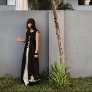 Ameri VINTAGE - エトレトウキョウ♡リネンフレアロングジレ
