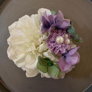 toytoy556【白ラベンダー】ダリア コサージュ 結婚式 卒業式 発表会(コサージュ/ブローチ)