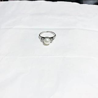 パール シルバー リング 指輪(リング(指輪))