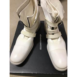 アルフレッドバニスター(alfredoBANNISTER)のアルフレッドバニスター レザーホワイトブーツ 42  約26.5㌢〜27㌢箱付き(ドレス/ビジネス)
