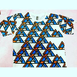 幾何学 個性 シャツ(Tシャツ(半袖/袖なし))