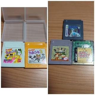GB ソフト まとめ売り 5本+ケース2つ付(家庭用ゲームソフト)