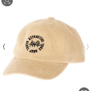 アナップキッズ(ANAP Kids)のANAPkids新品コールテンロゴ刺繍キャップ(帽子)