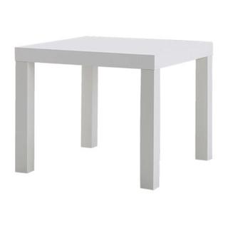 イケア(IKEA)のIKEA ホワイト サイドテーブル センターテーブル 軽量 55cm 正方形(ローテーブル)