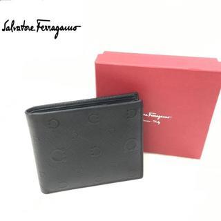 サルヴァトーレフェラガモ(Salvatore Ferragamo)のサルヴァトーレフェラガモ 2つ折財布 レザー ブラック(折り財布)