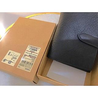 ムジルシリョウヒン(MUJI (無印良品))の【新品】 MUJI  ヌメシュリンク2つ折財布 (財布)