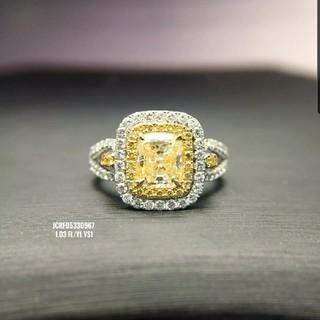 素敵なファンシーイエローダイヤモンドリング(リング(指輪))