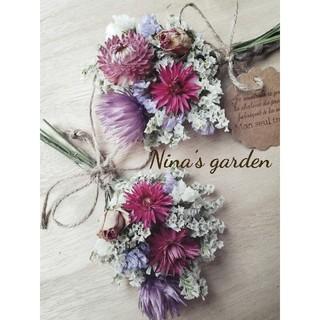 ドライフラワー*°♡Natural Gardenミニスワッグ2点セット(ドライフラワー)