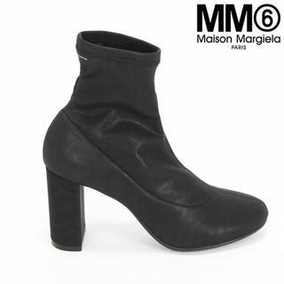 エムエムシックス(MM6)の新品定価6万程 MM6 エコレザー メゾンマルジェラ ショートブーツ(ブーツ)