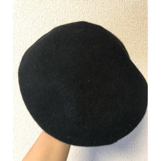 カシラ(CA4LA)のCA4クロヒョウ様専用 カシラ ベレー ベレー帽 シンプル 黒 ブラック(ハンチング/ベレー帽)