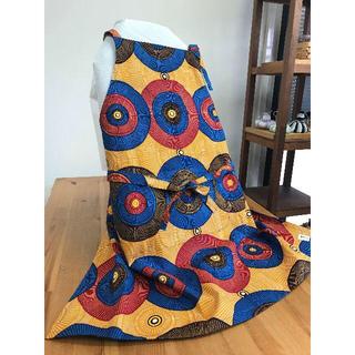 アフリカ布で作ったエプロン ハンドメイド バオバブ神戸(その他)