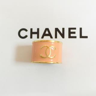 シャネル(CHANEL)の正規品 シャネル 指輪 ゴールド ココマーク ハート ピンク 金 ロゴ リング(リング(指輪))