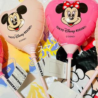 デイジー(Daisy)のディズニーリゾート限定販売 風船ハートバルーン ミッキー ミニー ペアセット新品(キャラクターグッズ)