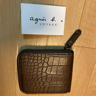 アニエスベー(agnes b.)のアニエスベー 折りたたみ財布 小銭入れ無し(折り財布)