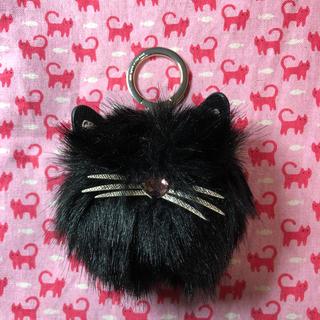 ケイトスペードニューヨーク(kate spade new york)のケイトスペード♠️キーホルダー  チャーム  黒猫(キーホルダー)