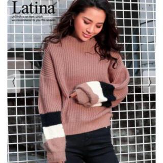 アナップラティーナ(ANAP Latina)のフェザー配色ニットプルオーバー(ニット/セーター)