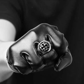 新品未使用 メンズ シルバークロスリング ゴージャス(リング(指輪))