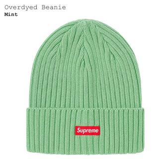 シュプリーム(Supreme)のSupreme overdyed beanie mint (ニット帽/ビーニー)