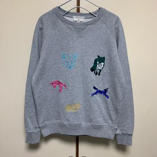 メゾンキツネ(MAISON KITSUNE')の美品 メゾンキツネ スウェット トレーナー 刺繍 レディース XS(パーカー)