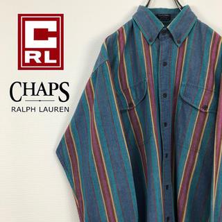 チャップス(CHAPS)のチャップスラルフローレン CHAPS  古着 マルチカラー ストライプBDシャツ(シャツ)