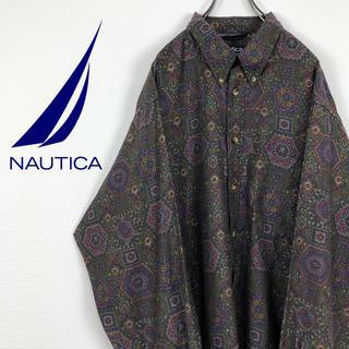 ノーティカ(NAUTICA)のノーティカ NOUTICA XL 総柄 古着 ゆるだぼ BDシャツ(シャツ)
