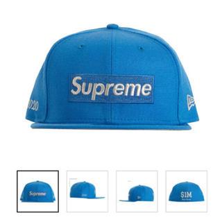 シュプリーム(Supreme)のSupreme  Box Logo New Era 7 1/4 Blue 青(ハット)