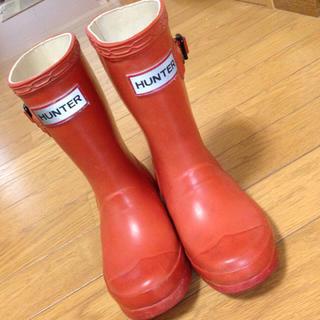 ハンター(HUNTER)のUK9♡オレンジHUNTERレインブーツ(長靴/レインシューズ)