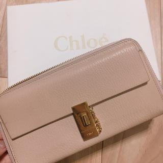 クロエ(Chloe)のChloe Drew ドリュー  長財布 ピンク(長財布)