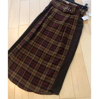 SCOT CLUB - スコットクラブ系列新品タグ付15800円チェック系ロングスカート