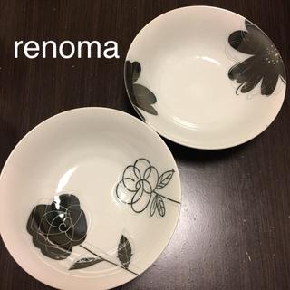 ユーピーレノマ(U.P renoma)の【renoma】柄違い深皿2枚セット☆美品☆(食器)