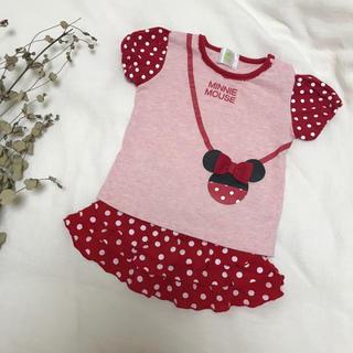ディズニー(Disney)のミニー なりきり セット 60cm 70cm 赤 新生児(スカート)