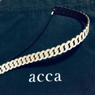 acca - acca♡レザーカチューム♡チェーンモチーフ♡クリーム系