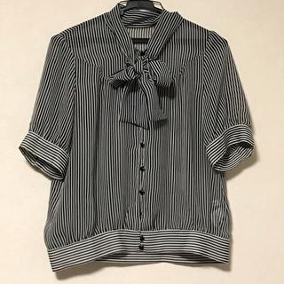 シフォン ボウタイ ブラウス (シャツ/ブラウス(半袖/袖なし))