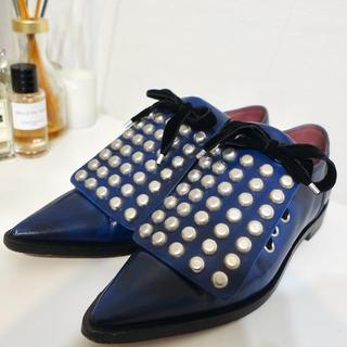 マークジェイコブス(MARC JACOBS)のスタッズオックスフォードシューズ(ローファー/革靴)