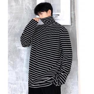 【neos/ネオス】/ボーダー タートルネック テレコ カットソー(Tシャツ/カットソー(七分/長袖))