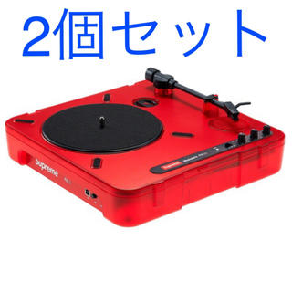 シュプリーム(Supreme)の2個セット!送込!Supreme Numark PT01 Turntable(ターンテーブル)