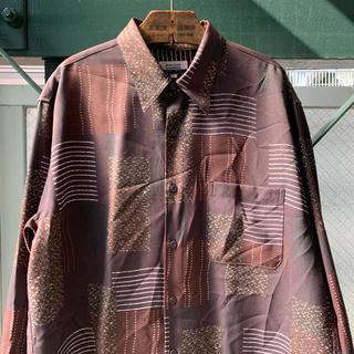 アートヴィンテージ(ART VINTAGE)の90s 古着 ポリシャツ テロテロシャツ 落ち感 ドレープ感 オーバーサイズ(シャツ)