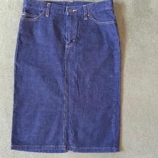 ムジルシリョウヒン(MUJI (無印良品))の無印デニムタイトスカート デニムロングスカート デニムスカート(ひざ丈スカート)