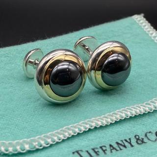 ティファニー(Tiffany & Co.)のヴィンテージ ティファニー ヘマタイト コンビ カフス AA70(カフリンクス)
