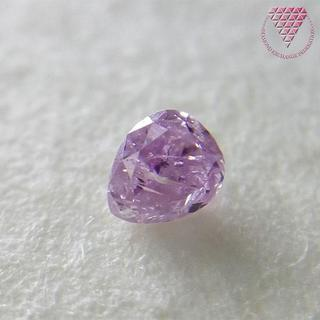 0.062 ct F. Pur. Pink 天然 ピンク ダイヤモンド(リング(指輪))