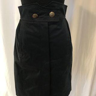 ルイヴィトン(LOUIS VUITTON)の春物ルイヴィトンコットンスカート黒サイズ36(ひざ丈スカート)
